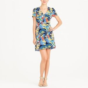 J Crew Mercantile Print Wrap Dress Multi Colors S6